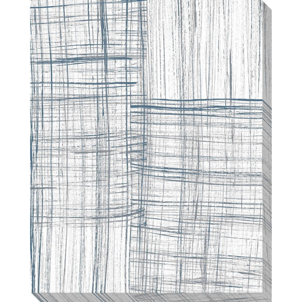 Image of Abstract In Lines I Unframed Wall Canvas Art - (24X30)