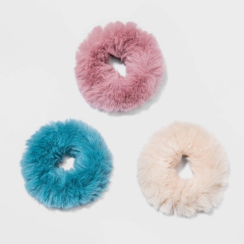 Faux Fur Twister 3pc - Wild fable™ Blue - image 1 of 1