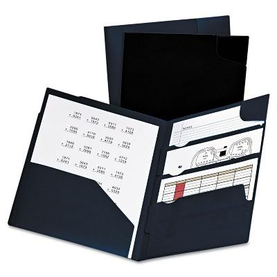 Oxford Divide It Up Four-Pocket Poly Folder 11 x 8-1/2 Navy 99801