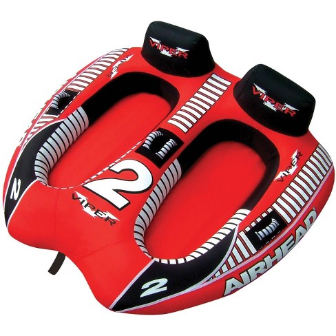 AIRHEAD AHVI-F2 Viper 2 Double Rider Cockpit Inflatable Towable Lake Water Tube - image 1 of 4