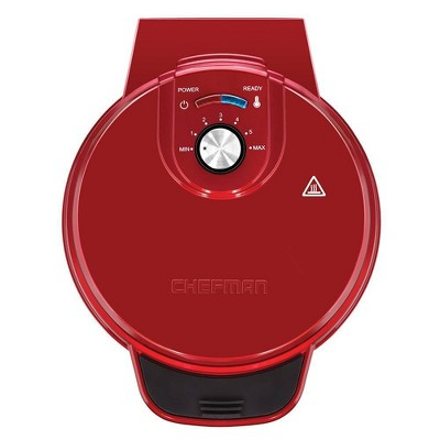 Chefman Anti-Overflow Waffle Maker - Red