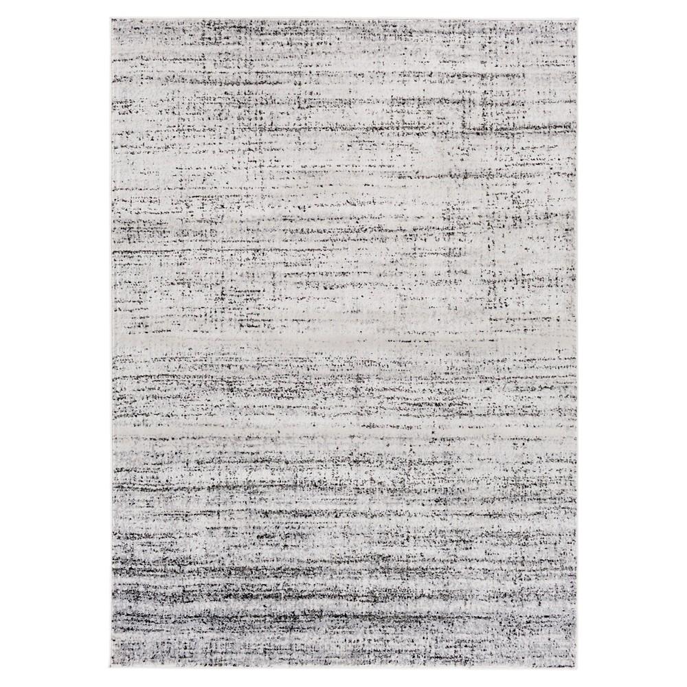 Light Gray Stripes Tufted Area Rug - (8'X11') - Surya