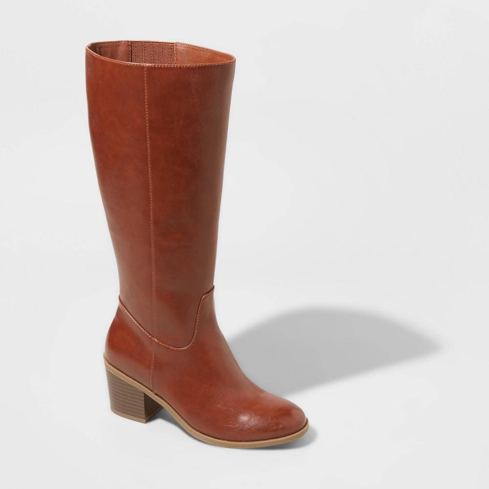 Discounts Women's Vivian Wide Calf Heeled Riding Boots - A New Day™  8.5WC