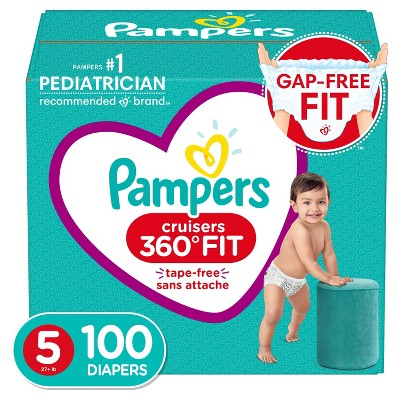 Pampers Cruisers 360 Disposable Diapers Enormous Pack - Size 5 (100ct)