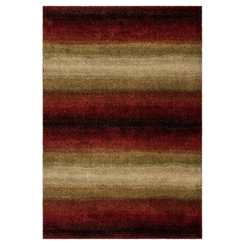 Red Stripe Woven Area Rug - (9'X13') - Orian