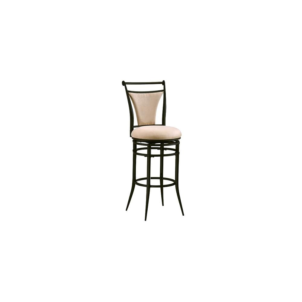 Hillsdale Furniture Cierra Swivel 26 Counter Stool - Fawn/Black, Black Finish/Fawn