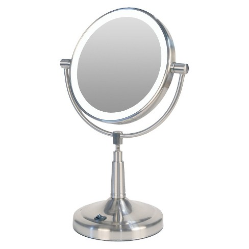 Zadro Pedestal Vanity Mirror Satin Nickel Target
