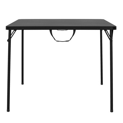 "XL 38.5"" Fold In Half Card Table with Handle Black - Room & Joy"