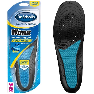 Dr. Scholl's Comfort & Energy Work Massaging Gel Advanced Insoles for Women - Size (6-10)