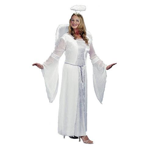 Women s Plus Size Angel Costume White 2X   Target 5b234fa25684