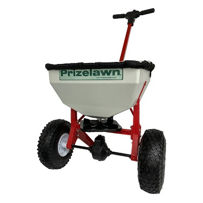 Earthway PrizeLawn Little Foot LFII 50 Lb Capacity Commercial Home Walk Behind Seed and Fertilizer Garden Spreader