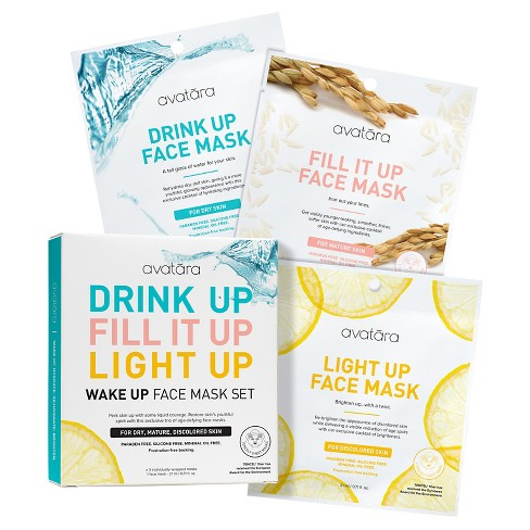 Unscented Avatara Wake Up Face Mask Set - 3x0 71 fl oz
