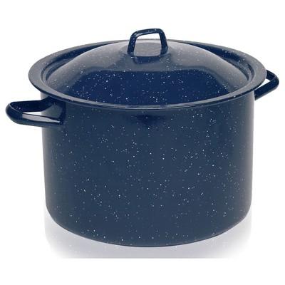IMUSA 12qt Enamel Stock Pot Blue