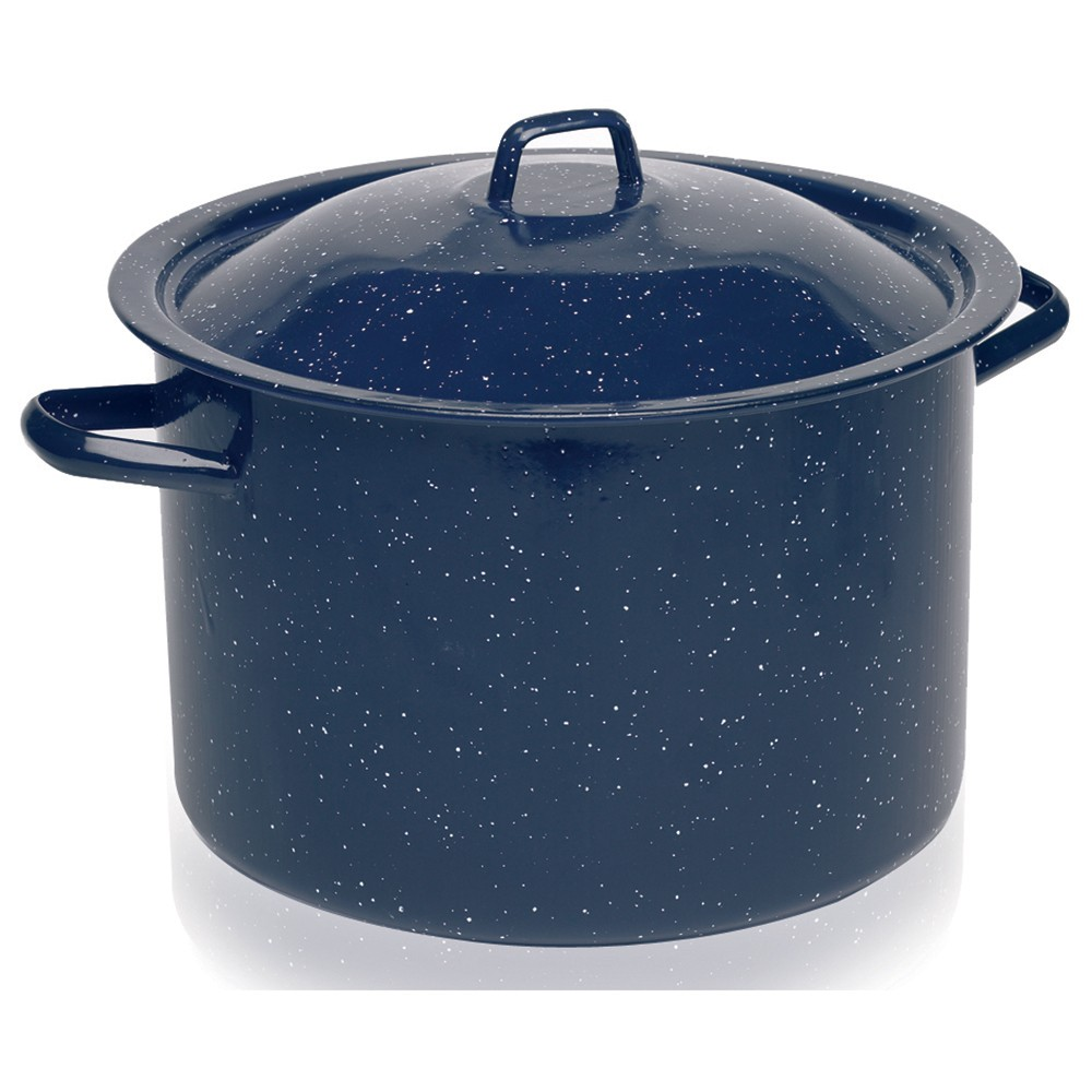 Image of IMUSA 12qt Enamel Stock Pot Blue