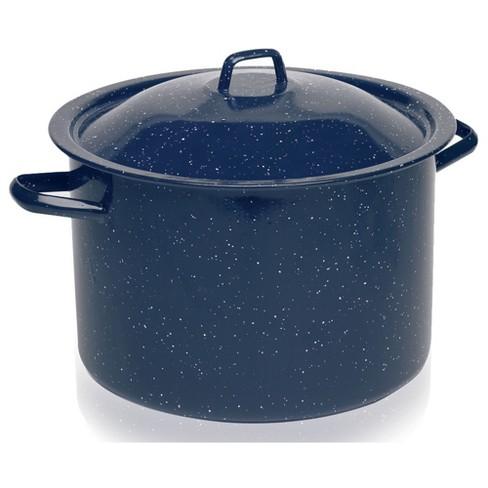 IMUSA 12qt Enamel Stock Pot Blue - image 1 of 4