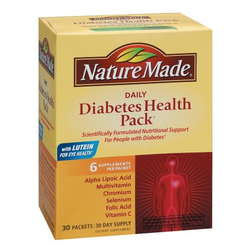 Nature Made Daily Diabetes Health Dietary Supplement Packets - 30ct - image 1 of 1