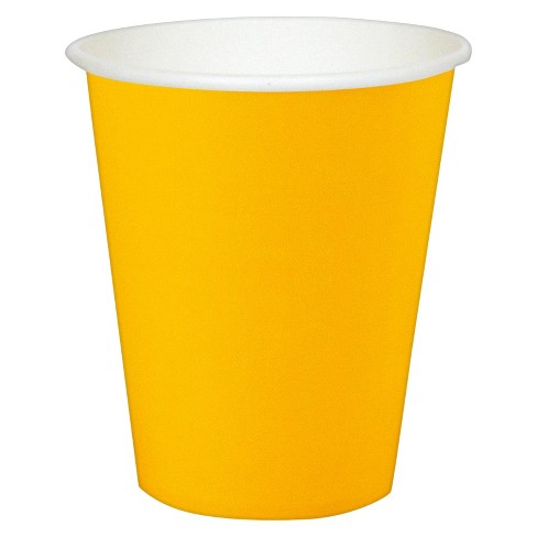 24ct 9 Oz. Cups - Yellow - image 1 of 1