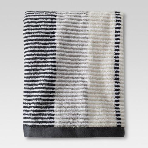 Stitch Stripe Towels Gray Threshold Target