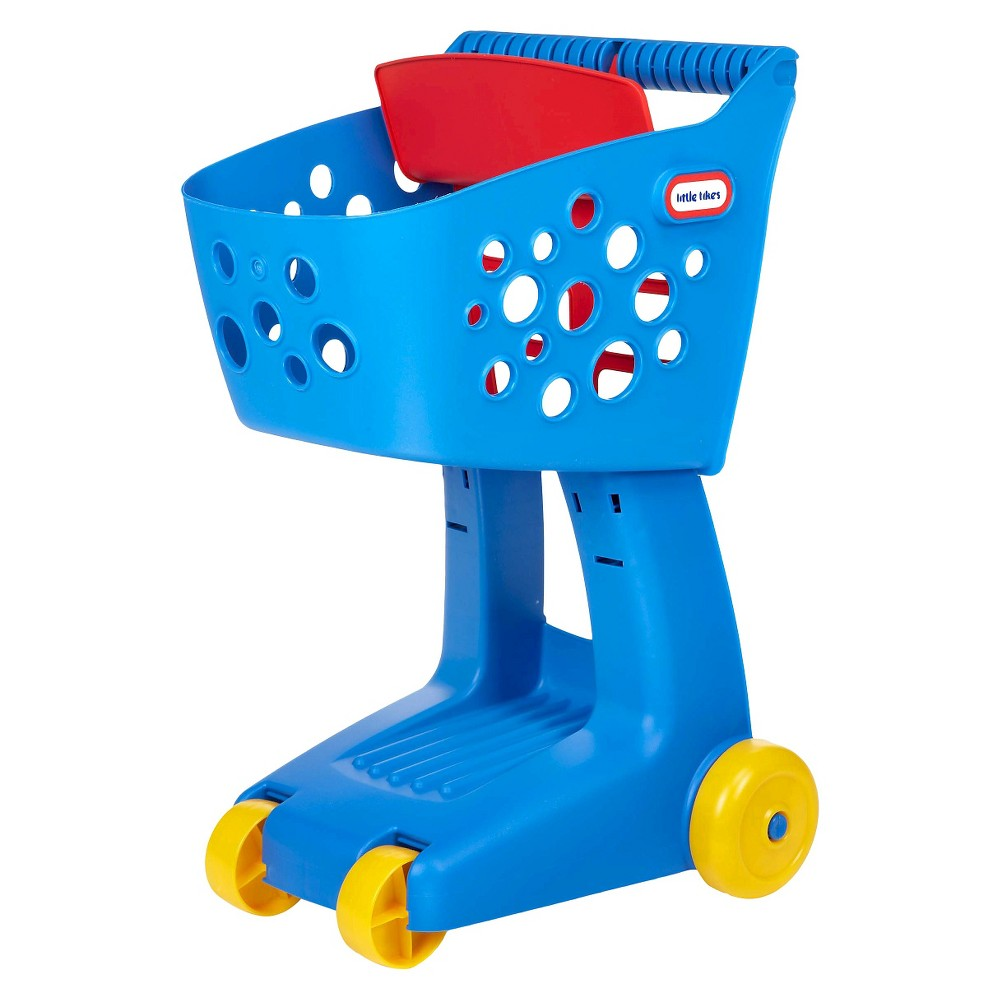 Little Tikes Nesting Shopping Cart - Blue Help your little one shop for their favorite groceries with the Nesting Shopping Cart from Little Tikes. Featuring four wheels and an ergonomic handle for effortless maneuvering, this kids shopping cart is aptly sized to help them easily select and put items directly in the cart. Equipped with a wide basket to hold whatever your little shopper puts in it, this shopping cart for kids will encourage imaginative play and independent thinking as they shop around the house. Gender: unisex.