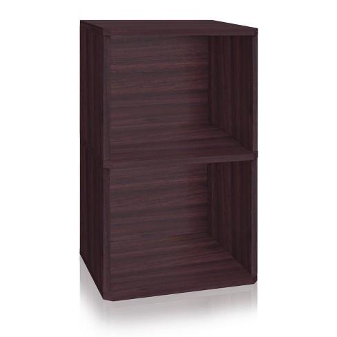 "29"" Eco Friendly 2-Shelf Vinyl Record Storage Cube - Way Basics - image 1 of 4"