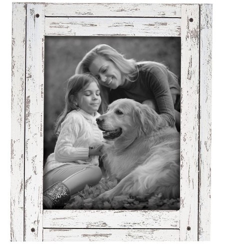 8X10 Heartland Photo Frame White - Foreside Home and Garden - image 1 of 1