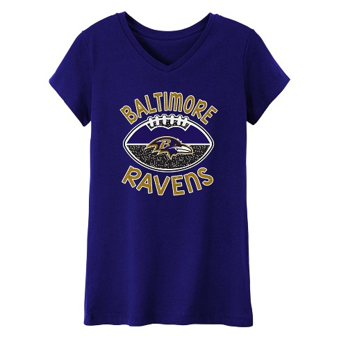 0b9a7f4dec9d5 Baltimore Ravens Girls' Represent V-Neck T-Shirt L : Target