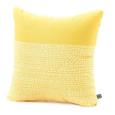 Yellow Jacqueline Maldonado Riverside Throw Pillow - (18 x18 )- Deny Designs®