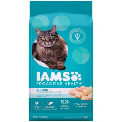 Iams Proactive Health Indoor Weight & Hairball Care with Chicken & Turkey Adult Premium Dry Cat Food