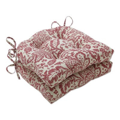 Red Fairhaven Reversible Chair Pad (Set Of 2)(16 X15.5 )- Pillow Perfect