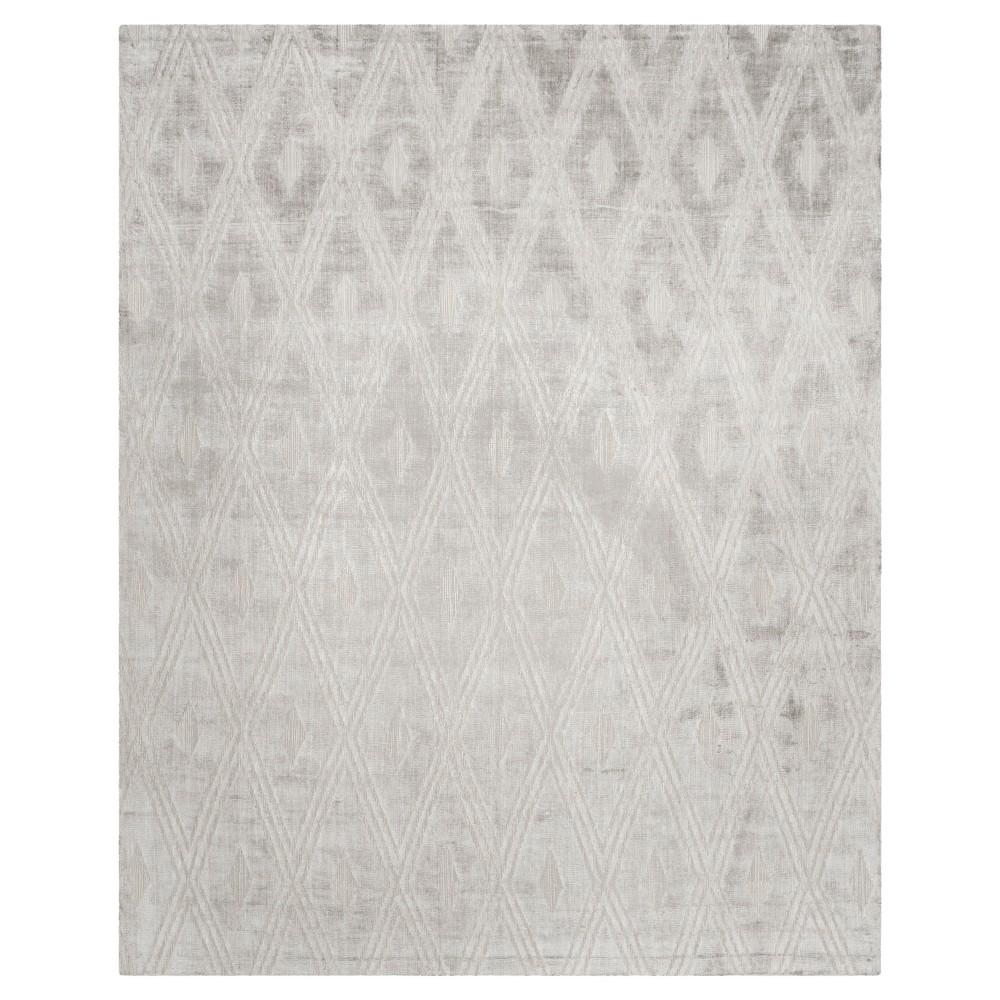 Silver Geometric Woven Area Rug 9'X12' - Safavieh