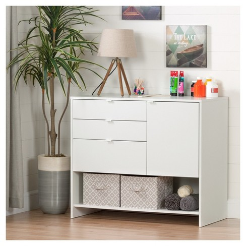 Crea Craft Storage Cabinet With Drawers Pure White South S