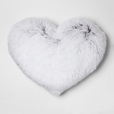 Plush Heart Oversize Throw Pillow White