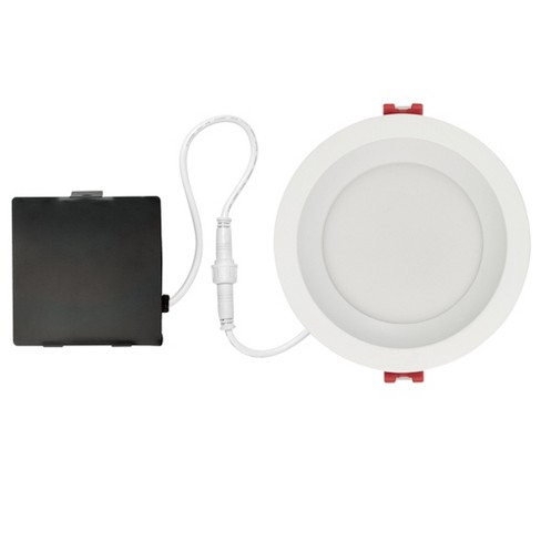 "Globe Electric 91070 Slimline 4"" LED Open Recessed Trim and Remodel Housing - Insulated Ceiling Rated - image 1 of 4"