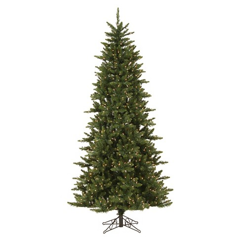 new style 989a9 93d1e 8.5ft Pre-Lit LED Artificial Christmas Tree Full Noble Spruce Instant -  White Lights