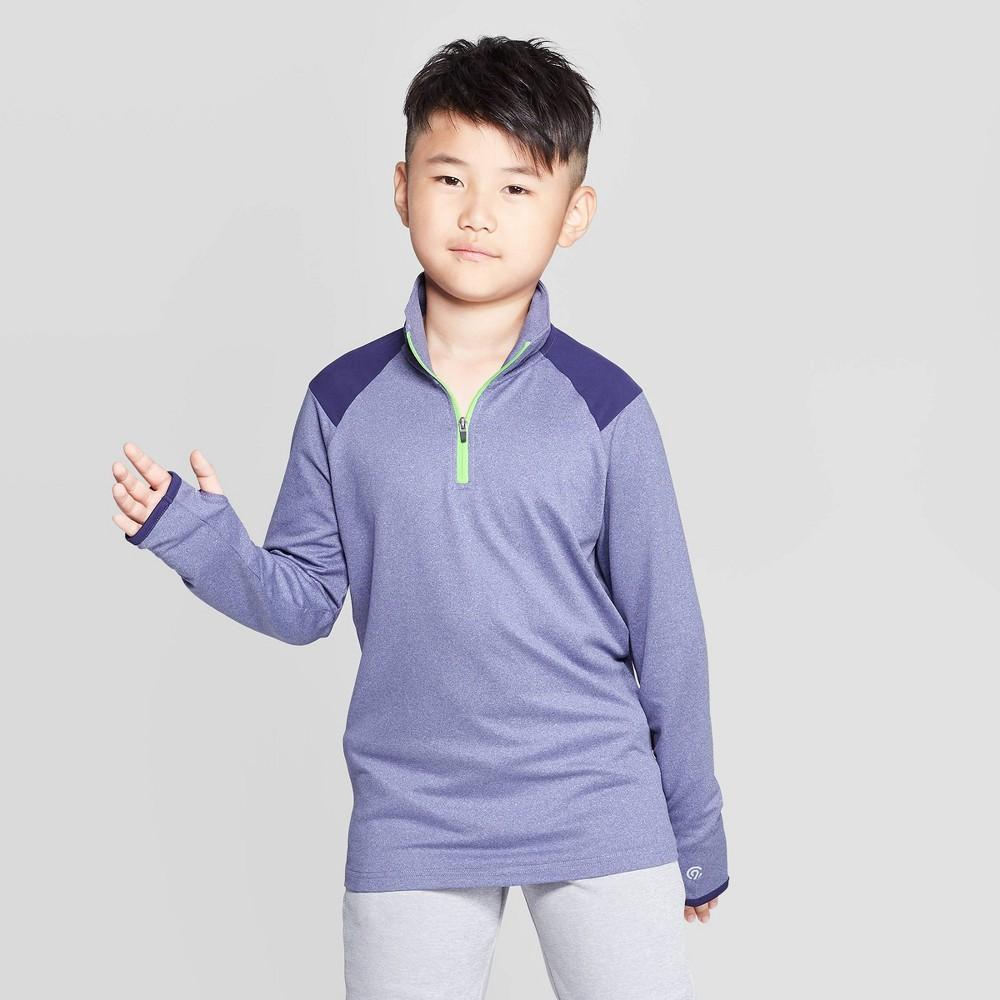 Image of Boys' Performance 1/4 Zip Pullover - C9 Champion Navy Blue L, Boy's, Size: Large, Purple