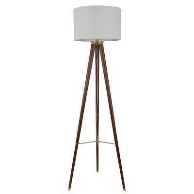 Large Wood Tripod Floor Lamp Brown (Includes Energy Efficient Light Bulb)- Project 62™
