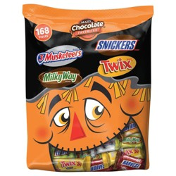 Mars Chocolate Favorites Snickers Milky Way 3 Musketeers and Twix Halloween Variety Bag - 45.8oz / 168ct