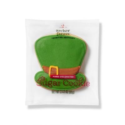 St. Patrick's Day Hat Sugar Cookie - 2.12oz - Archer Farms™