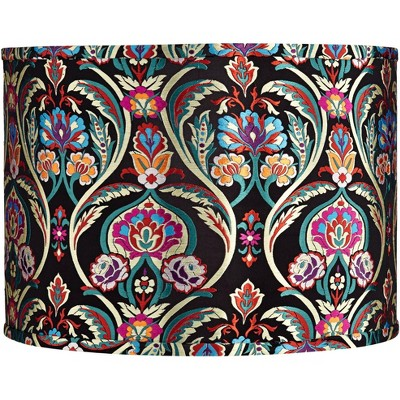 Springcrest Multi-Color Embroidered Drum Lamp Shade 15x15x11 (Spider)