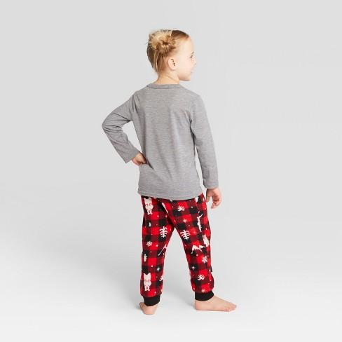 2dc1419a0 Toddler Holiday Bear Pajama Set - Wondershop™ Red 12M   Target