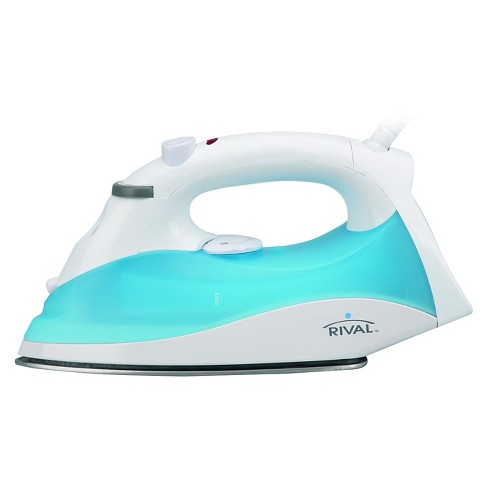 RIVAL Steam Wave Iron, White and Blue, GCRVSW-100-122 - image 1 of 2