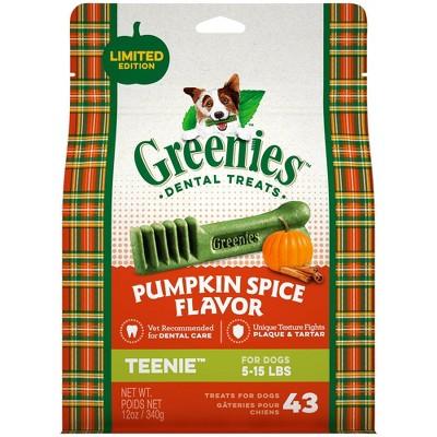 Greenies Pumpkin Spice Dental Treats Teenie - 43ct/12oz