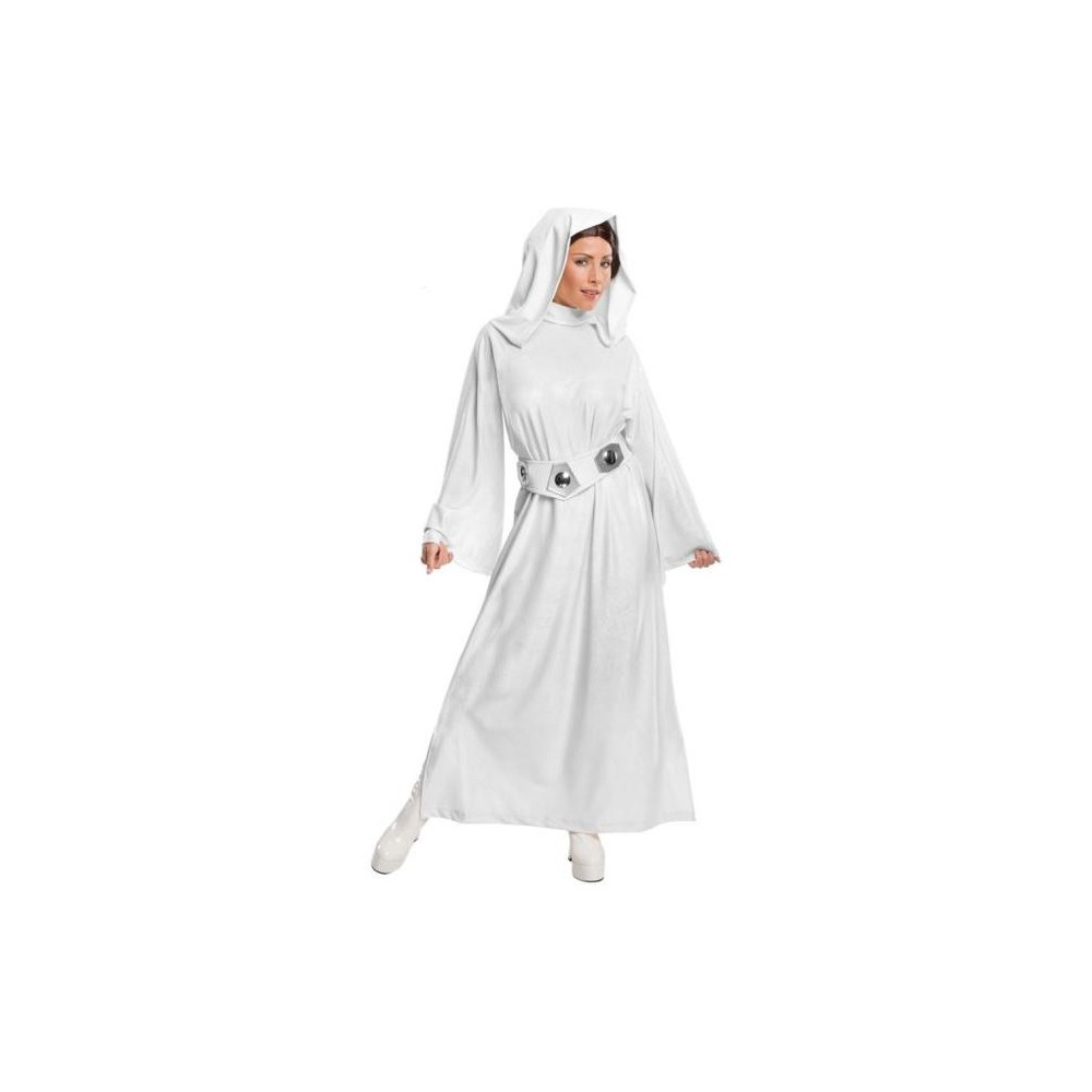 Star Wars Women's Princess Leia Hooded Halloween Costume M - Rubie's, White