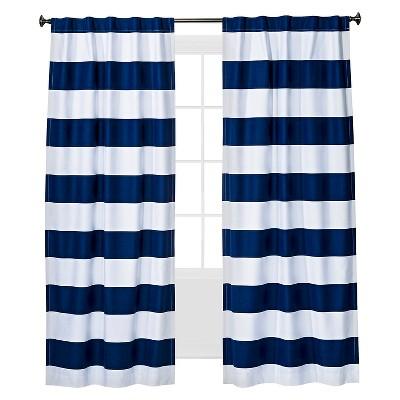 Twill Light Blocking Curtain Panel Navy (42 x84 )- Pillowfort™