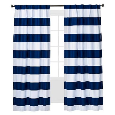 Twill Light Blocking Curtain Panel Navy 42 Quot X84
