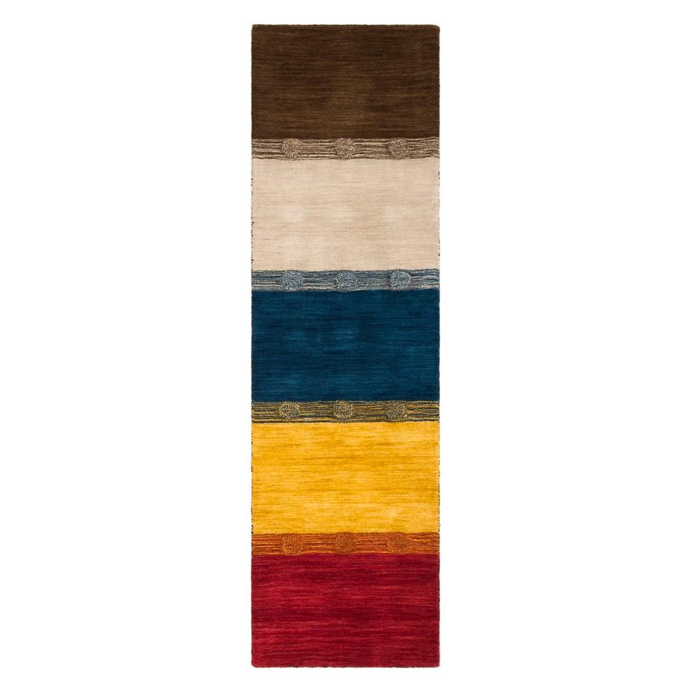 22X8 Stripe Loomed Runner Beige - Safavieh Compare