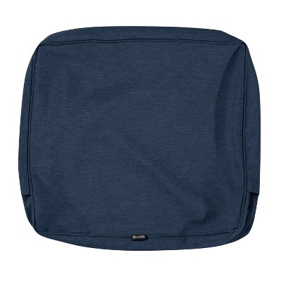 """21"""" x 22"""" x 4"""" Montlake Water-Resistant Patio Seat Cushion Slip Cover - Classic Accessories"""