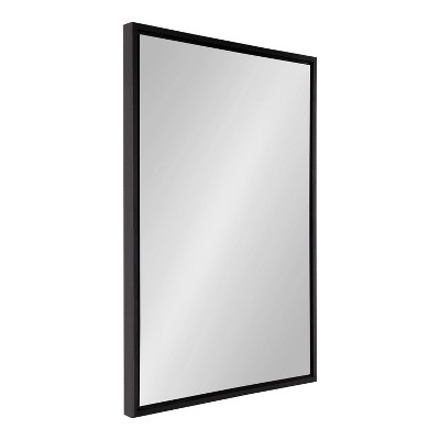 """24"""" x 36"""" Evans Rectangle Wall Mirror Black - Kate & Laurel All Things Decor"""
