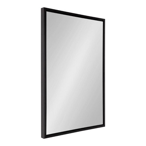 """24"""" x 36"""" Evans Rectangle Wall Mirror Black - Kate & Laurel All Things Decor - image 1 of 4"""