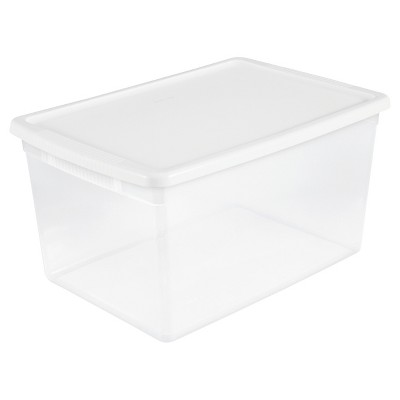 Sterilite® ClearView Latch Storage Bin Clear with White Lid 16.5gal
